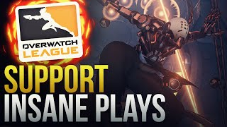 INSANE SUPPORT PLAYS - Overwatch League - Overwatch Montage