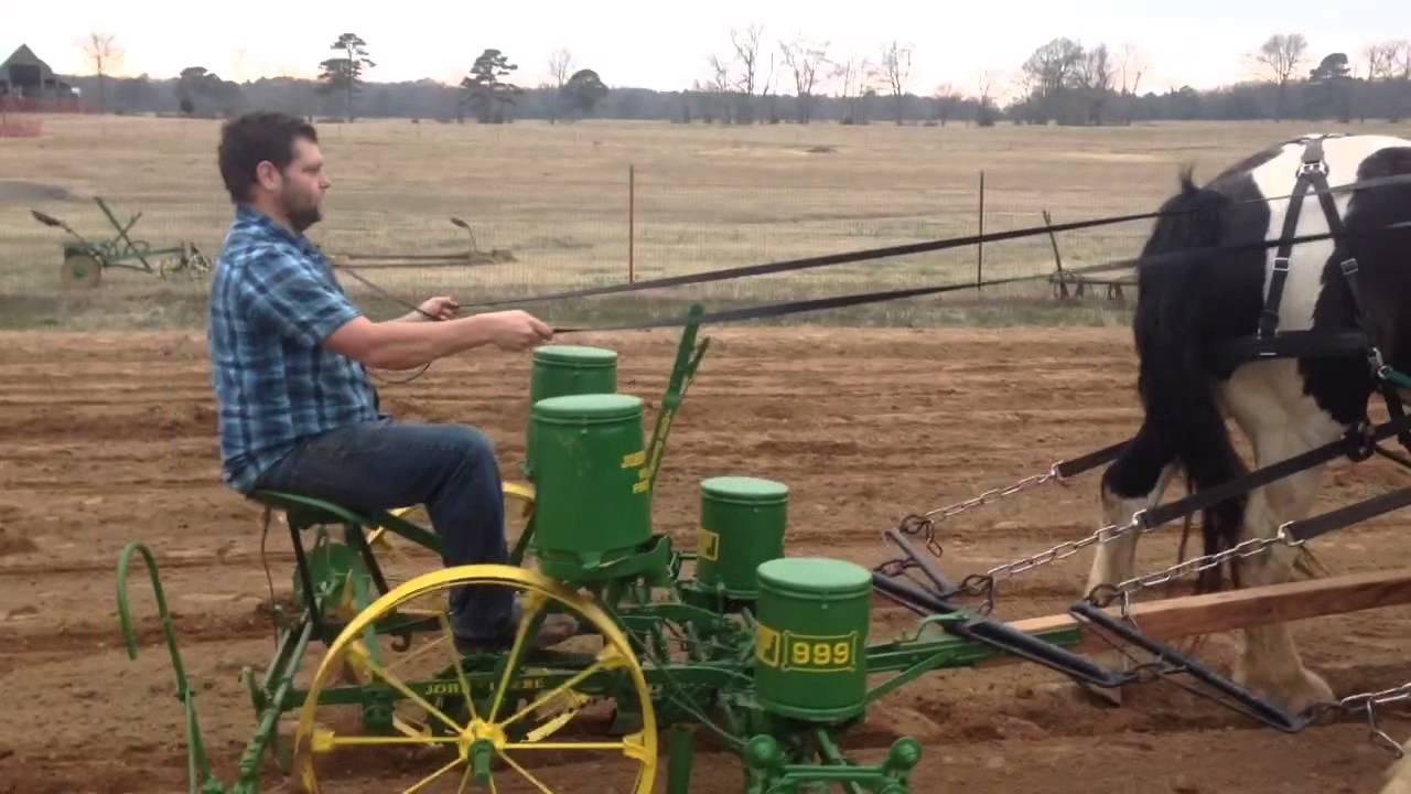 John Deere Horse Drawn Corn Planter Youtube