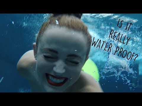 Download Youtube: TESTING WATER PROOF MAKEUP