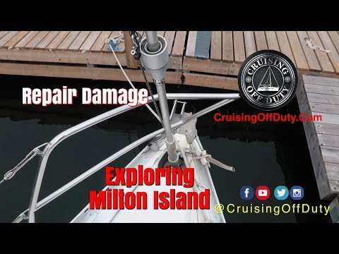 Fix damaged boat and start exploring the St Lawrence and the 1000 Islands.  Milton Island.  Ep65