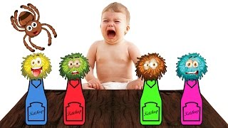 Bad Baby Crying Learn colors with Baby and Сandy - Finger family nursery rhymes songs for kids