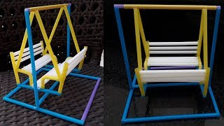 How to Make a Drinking Straws Toy Swing | DIY Art Straws