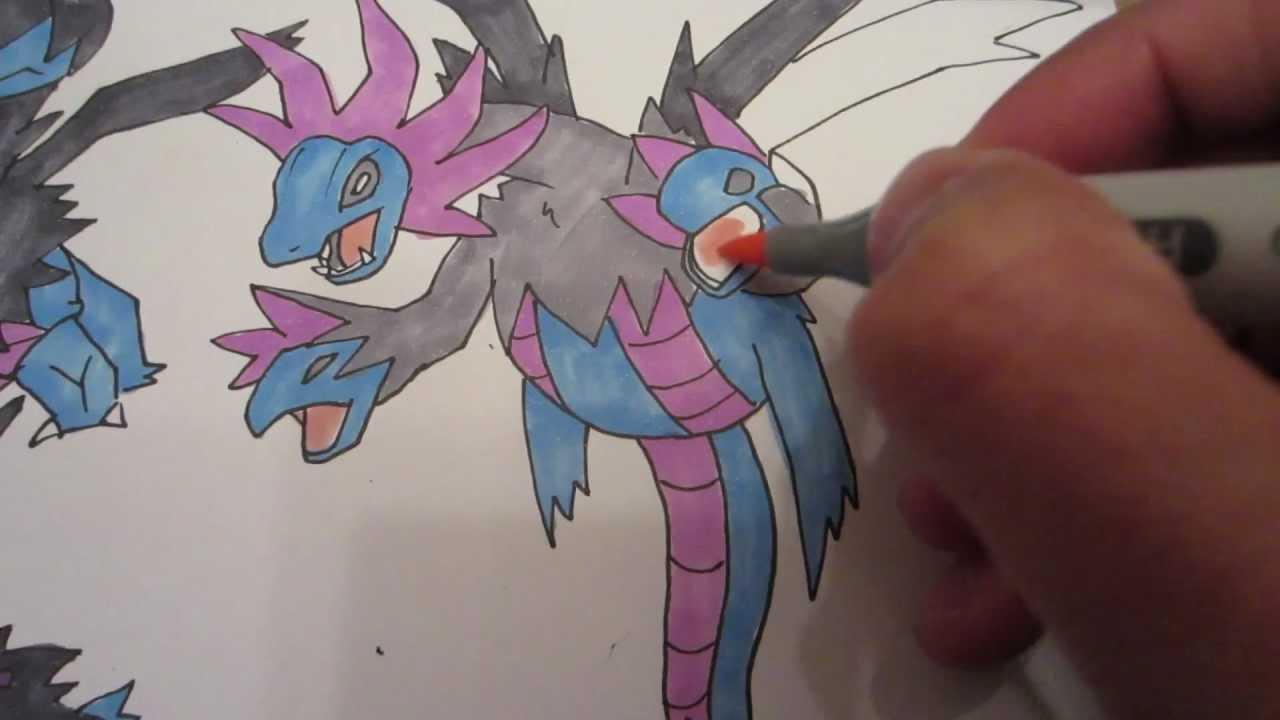 How To Draw Pokemon No 633 Deino モノズ No 634 Zweilous No