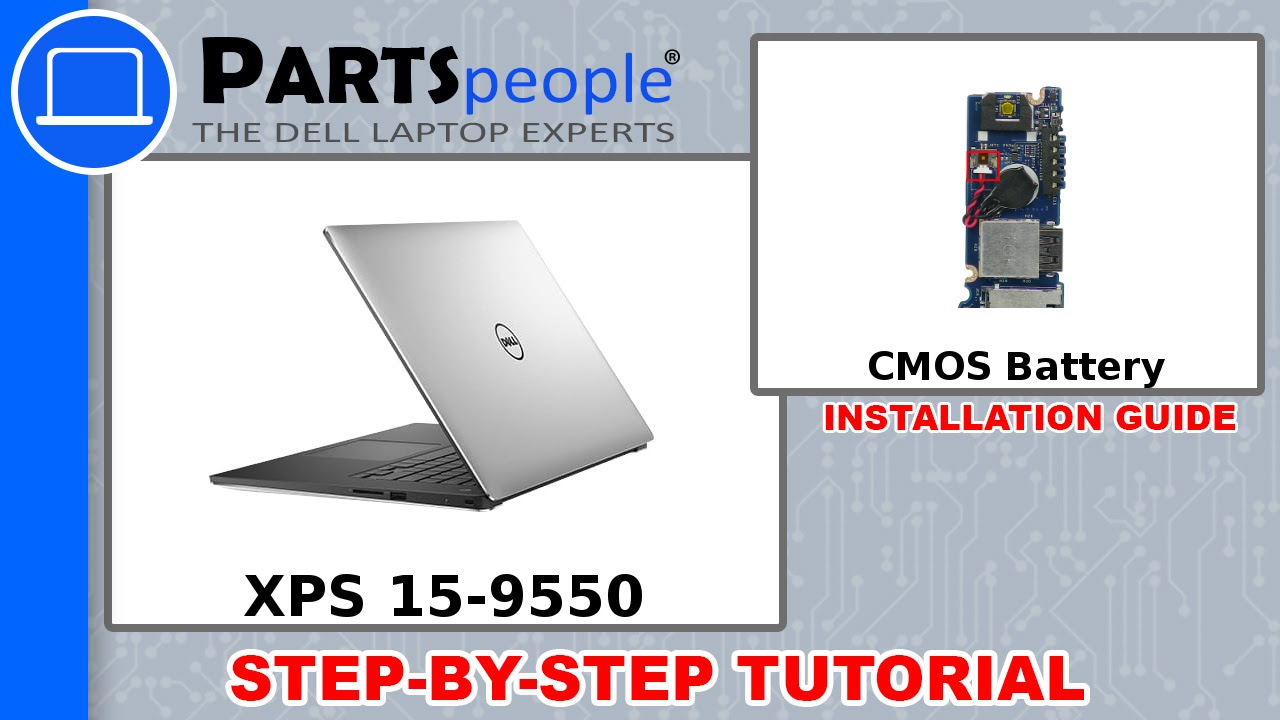 Dell XPS 15-9550 (P56F001) CMOS Battery How-To Video Tutorial