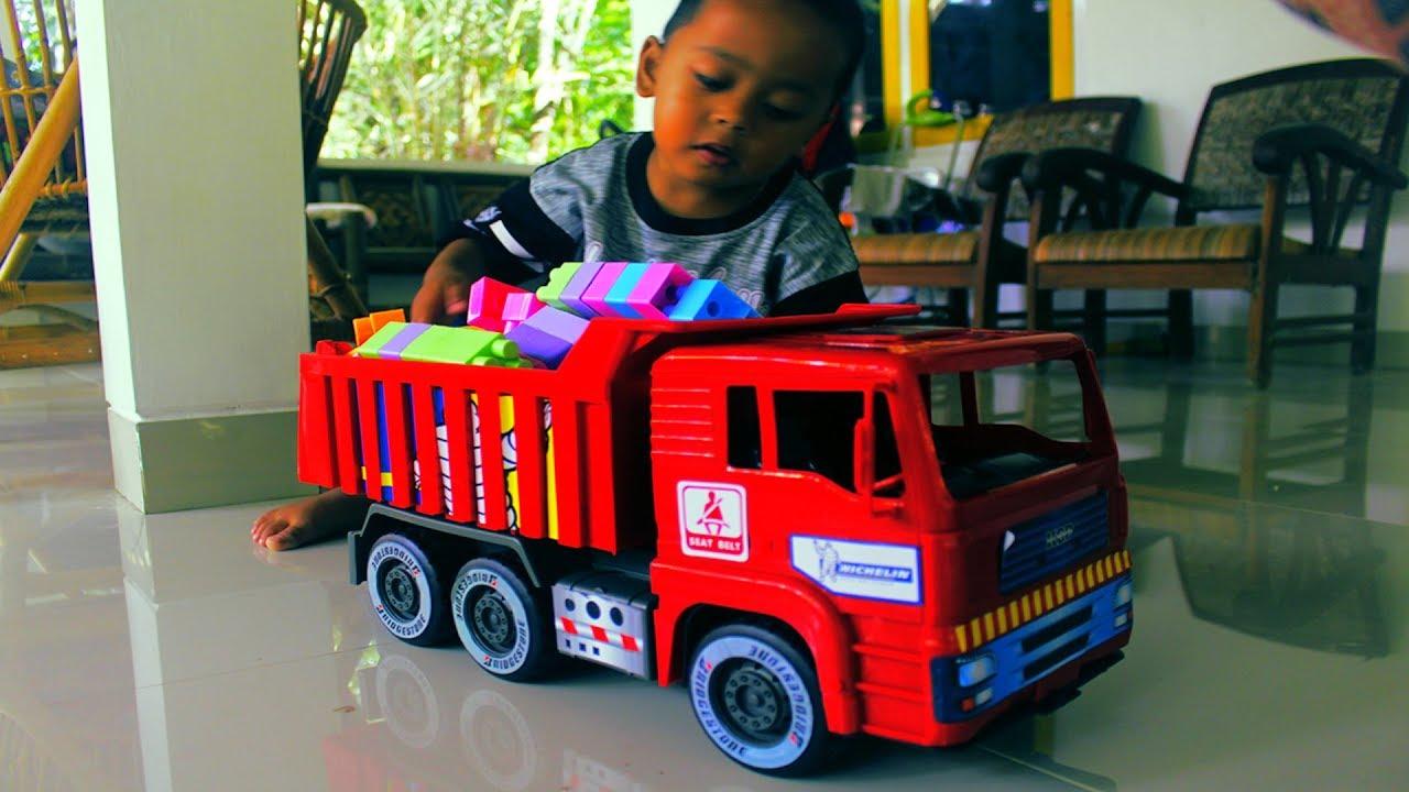 Mobil Mobilan Truk Dump Mainan Anak Laki Laki Youtube