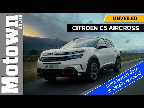 Citroen C5 Aircross | Unveiled | Indian launch - August 2020 | Motown India