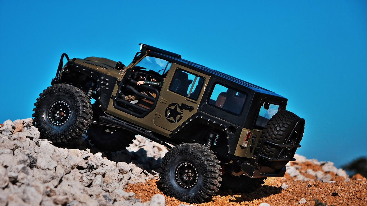 Jeep JK Rubicon Axial SCX10 II Xtraspeed Wrangler Construction drive