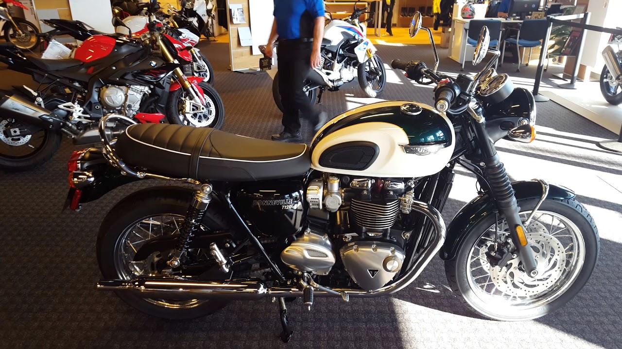 New Color 2018 Triumph Bonneville T120 In Competition Green Fusion