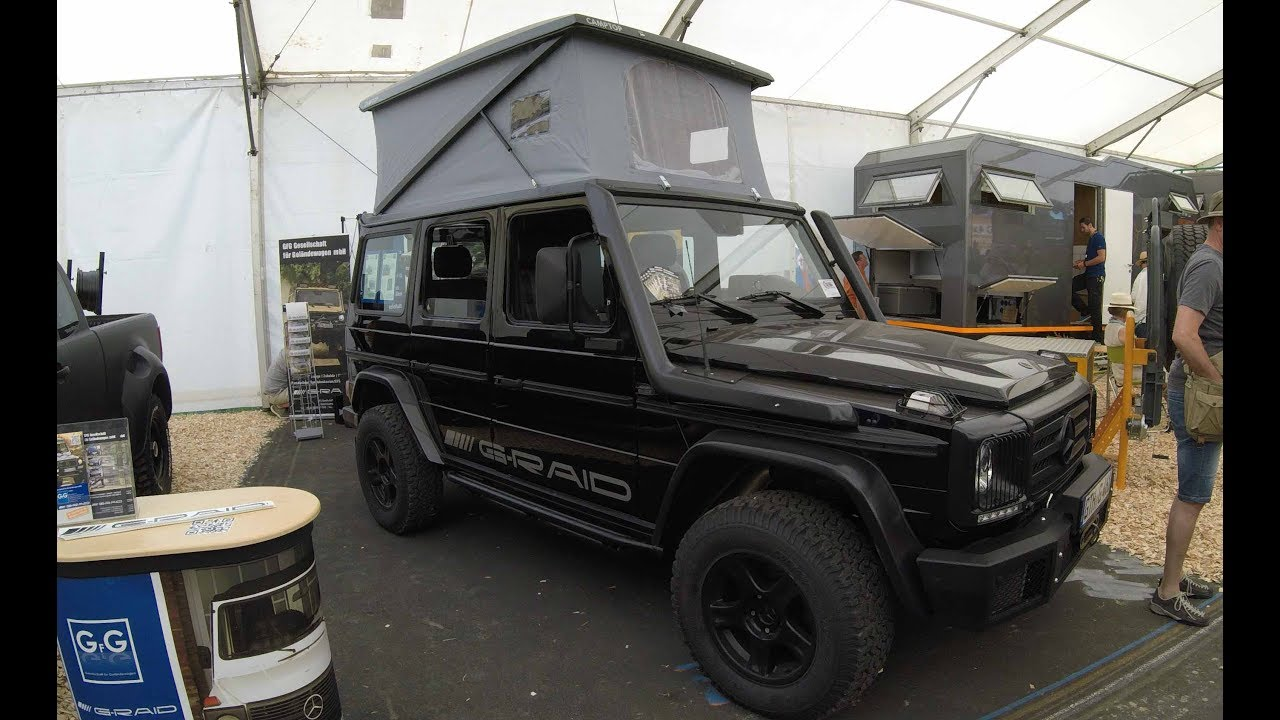 mercedes benz w463 g class camper with camptop roof walkaround interior youtube. Black Bedroom Furniture Sets. Home Design Ideas