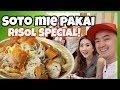 SOTO MIE PAKAI RISOL SPECIAL BIKIN LUPA DIET! - Vlog Myfunfoodiary
