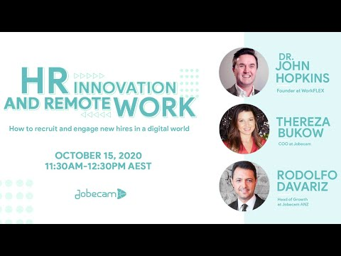 HR Innovation and Remote Work - How to recruit and engage new hires in a digital world