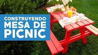 ¿Cómo construir una mesa de picnic?