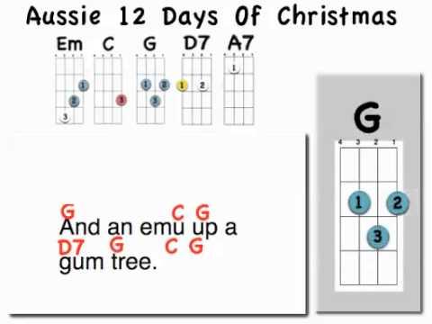 Ukulele ukulele tabs 12 days of christmas : 12 days of Aussie Christmas with Uke - YouTube