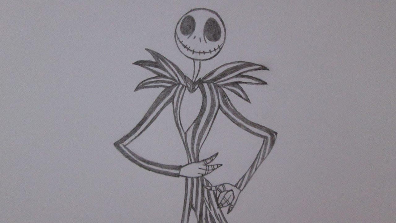 Cómo Dibujar A Jack Skellington (Jack Esquéleton)