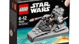 Обзор и сборка Lego Star Wars 75033 - Звездный разрушитель - часть 1. Видео Лего