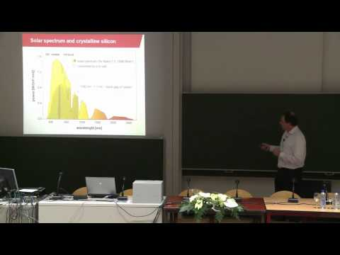 Novel nanomaterials and concepts for photovoltaic energy by Prof. dr. R. A. J. Janssen. Part 1