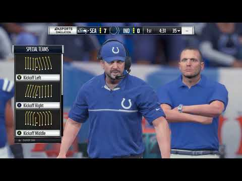 Madden 18 Seattle Seahawks vs Indianapolis Colts
