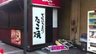 地震の影響 横浜駅ダイエー前