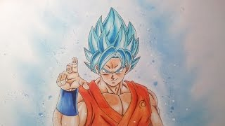 Drawing Goku SSGSS – Super Saiyan God Super Saiyan - Resurrection  F