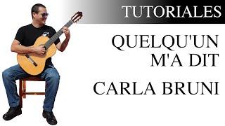 Aprende a tocar Quelqu'un m'a dit de Carla Bruni en la guitarra Mp3