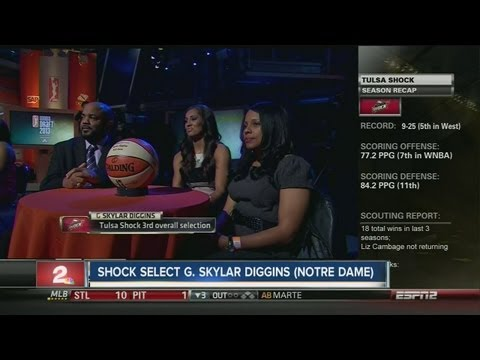 Tulsa Shock select Skylar Diggins in WNBA Draft