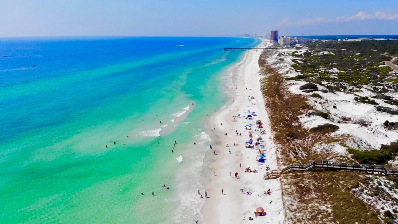 Panama City Beach by Drone - PCB, FL - YouTube