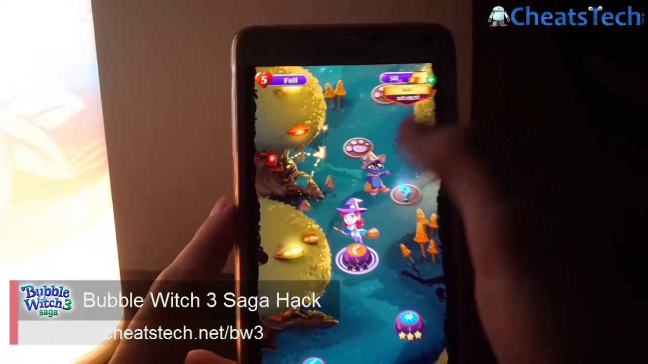 Bubble Witch 3 Saga Hack Unlimited Gold Android Ios Updated 2017 Youtube