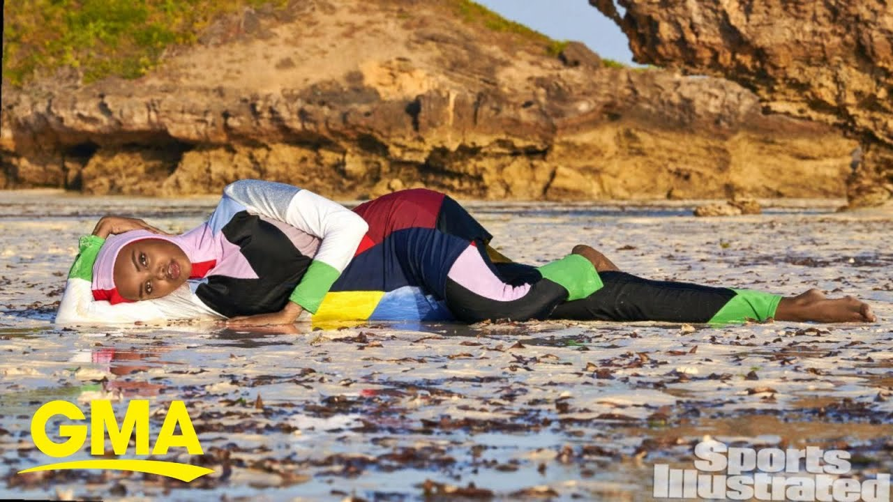 Halima Aden becomes first model to wear hijab and burkini in Sports Illustrated swimsuit issue