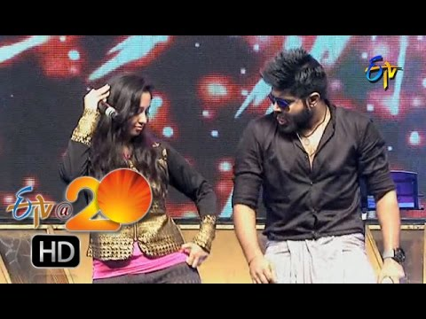 Revanth,Malavika Performance - Aatakavala Patakavala Song in Chilakaluripet ETV @ 20 Celebrations