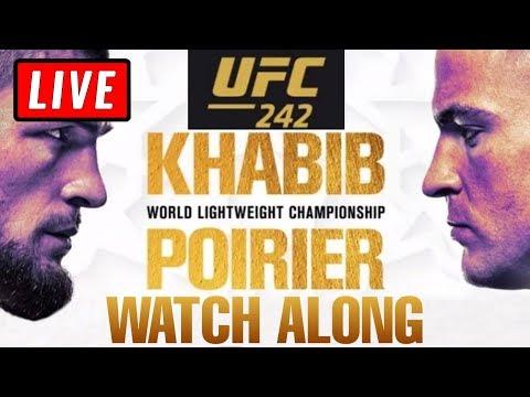 UFC 242 LIVE STREAM - Khabib Vs Poirier + Barboza Vs Felder Live Reactions