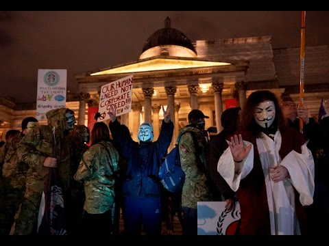 Anonymous Gets Attacked At Million Mask March Protest