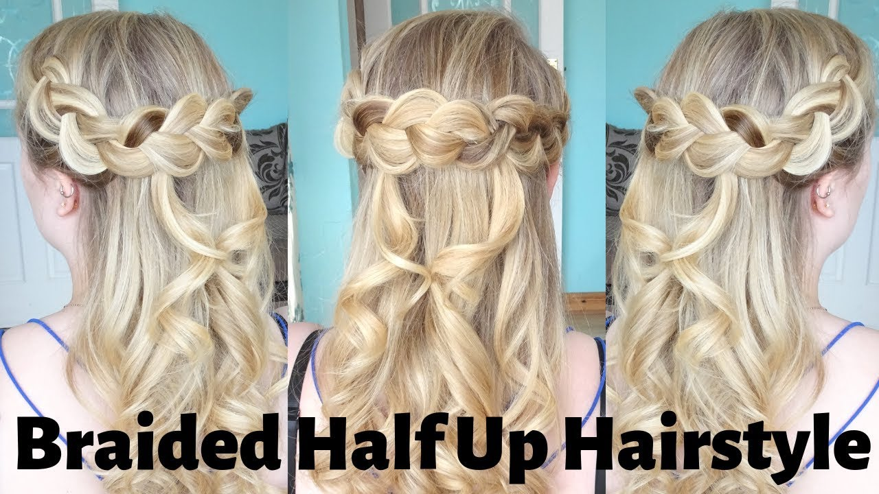 How To Do An Easy Half Up Half Down Curly Hairstyle Dutch Braid Hair Tutorial