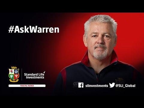 #AskWarren – An exclusive Q&A with British & Irish Lions Head Coach Warren Gatland
