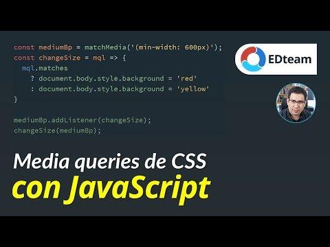 Media Queries (de CSS) Con JavaScript
