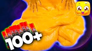 How To Make GĮue Stick Slime! Giant Fluffy Slime No borax, liquid starch, detergent! 100 Layers Glue