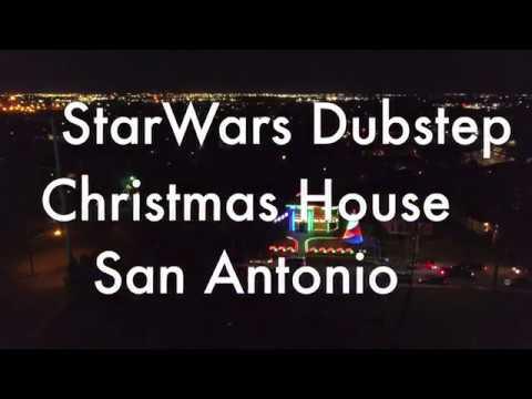 Dark Side Star Wars Dubstep Christmas Lights in San Antonio with Drone Footage! (1080p)