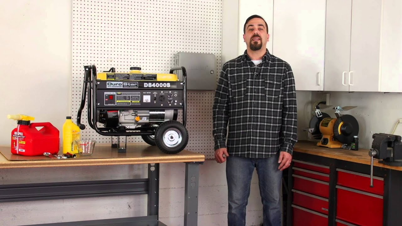 DuroStar How to Winterize 7 0 HP Portable Gas Powered Generators