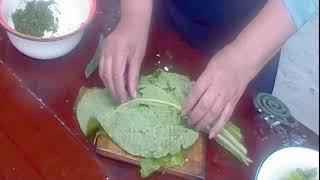 Салат из бораго, листового салата, укропа и яиц Вкусно, дёшево, полезно!