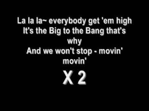 la la la - big bang english lyrics