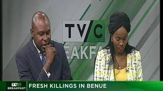 TVC Breakfast Dec. 9th 2018 | Fresh killings in Benue state