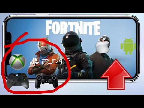 *NEW* HOW TO PLAY FORTNITE MOBILE ON ANDROID AND IPHONE WITH A XBOX & PS4 CONTROLLER!!!