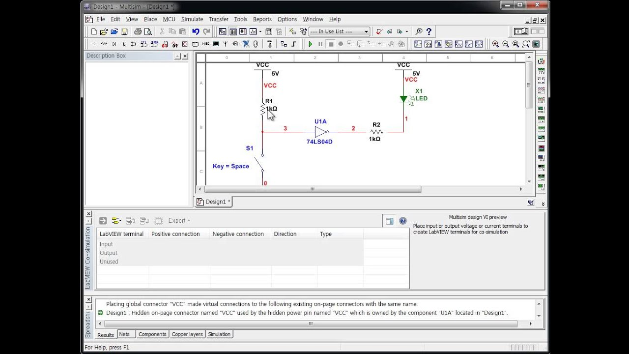 How To Simulate A Not Gate Using Multisim