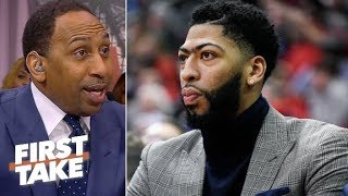Gregg Popovich advising Pelicans not to cave to Lakers on Anthony Davis – Stephen A. | First Take thumbnail