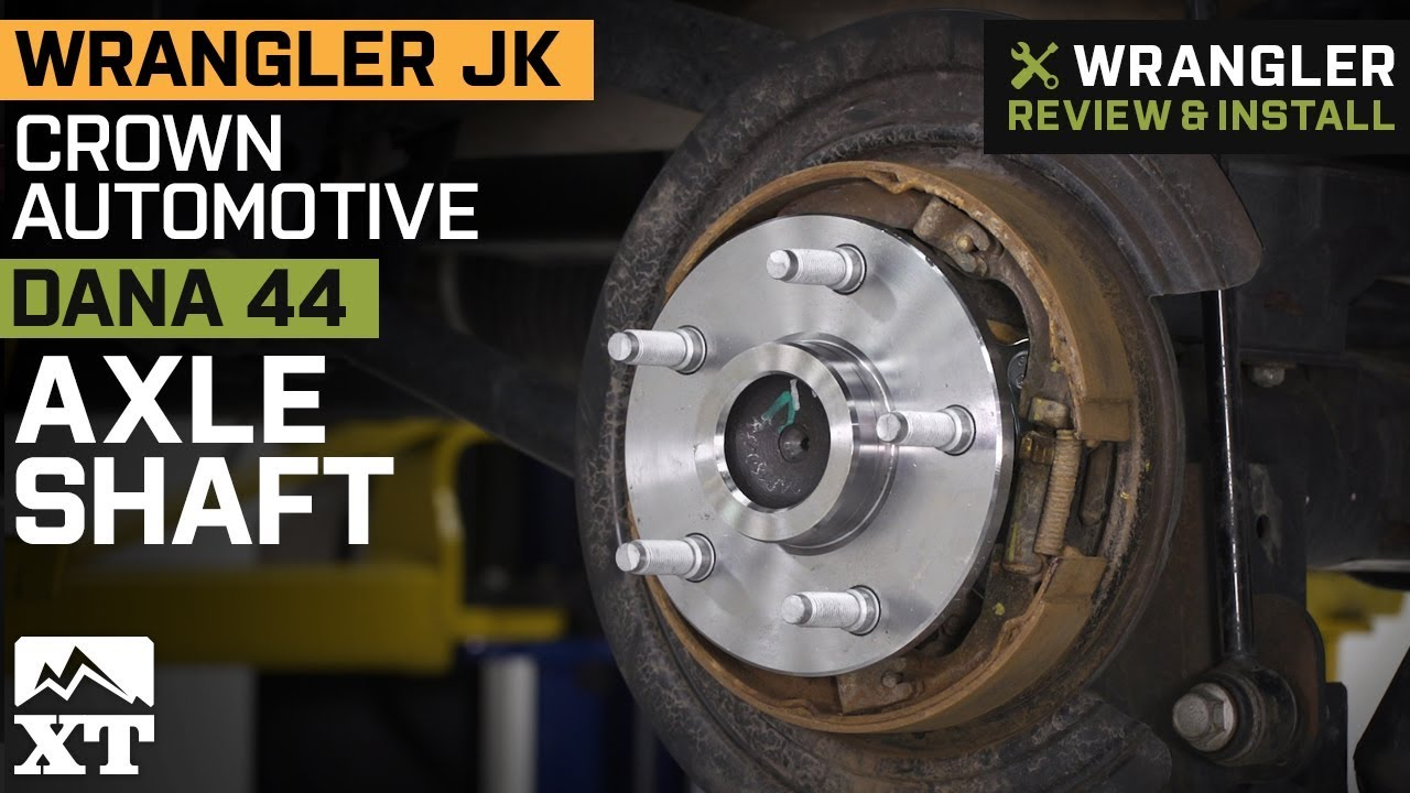 Jeep Wrangler JK Crown Automotive Dana 44 Rear Axle Shaft (2007-2018)  Review & Install