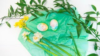 «Акварельные» яйца | Пасхальные яйца