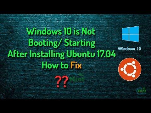 SOLVED: Windows not booting after installing Ubuntu