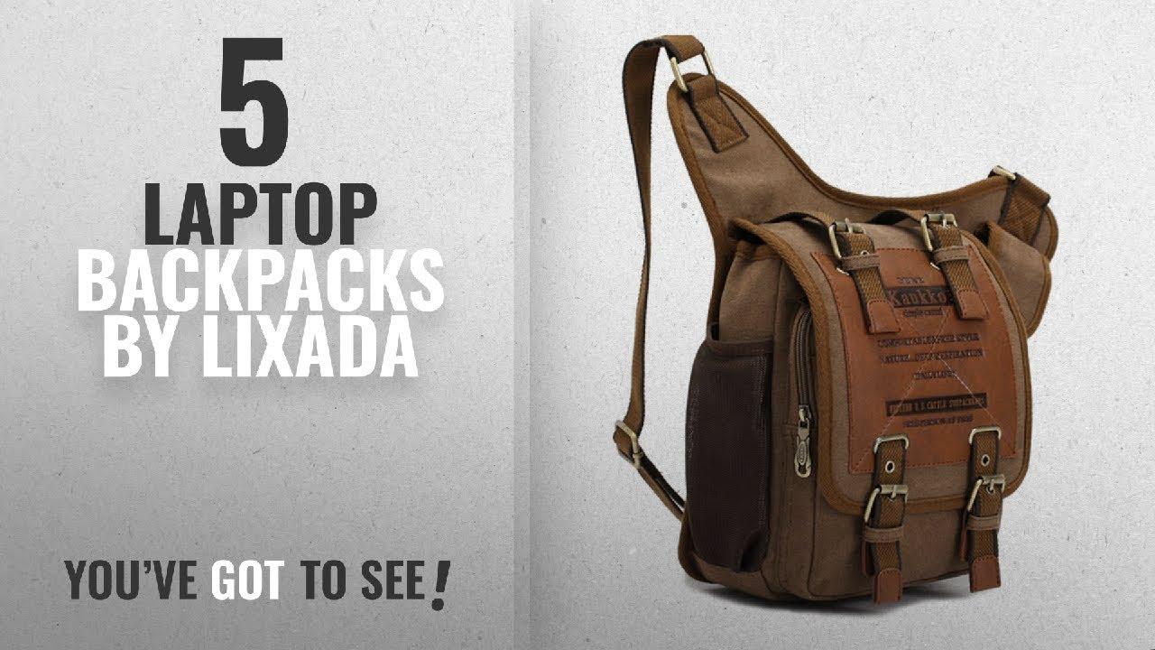 6980947fc2 Top 10 Lixada Laptop Backpacks  2018   Lixada KAUKKO Casual Shoulder Bag  Sports Canvas Handbag