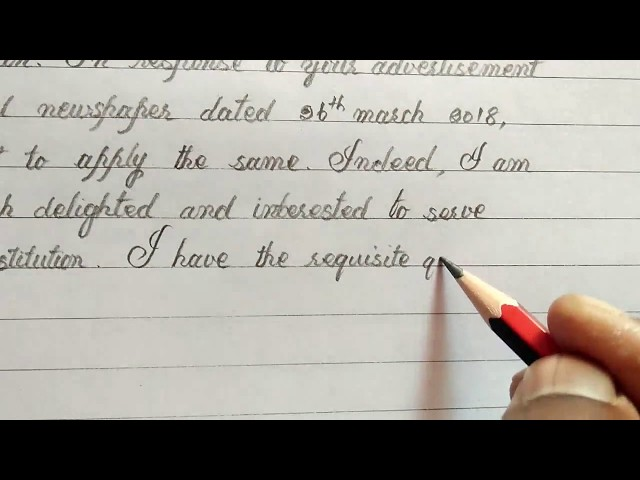 How to write job application for the post of English teacher