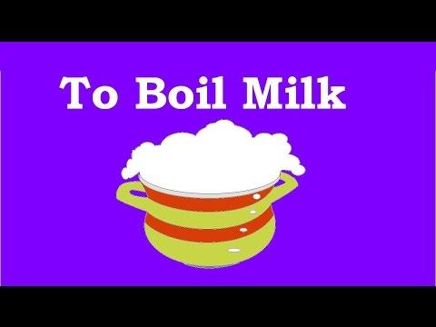 10 how to boil the milk so that it cannot spill - как кипятить молоко чтобы оно не убежало