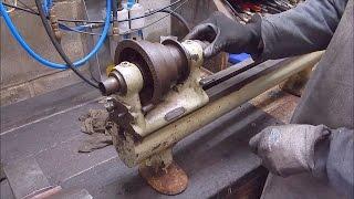 Early Schaublin 102 flat belt lathe headstock teardown